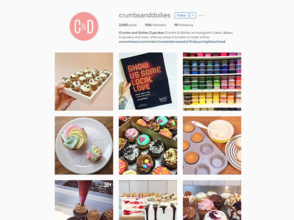 Crumbs and Doilies Instagram
