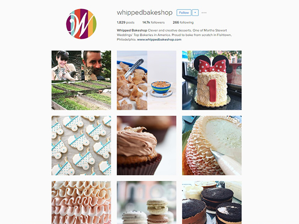 Whipped Bake Shop Instagram